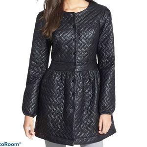 June & Hudson black quilted Faux leather Jacket